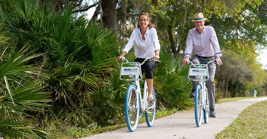 bike riding thru neal land neighborhoods Florida developers