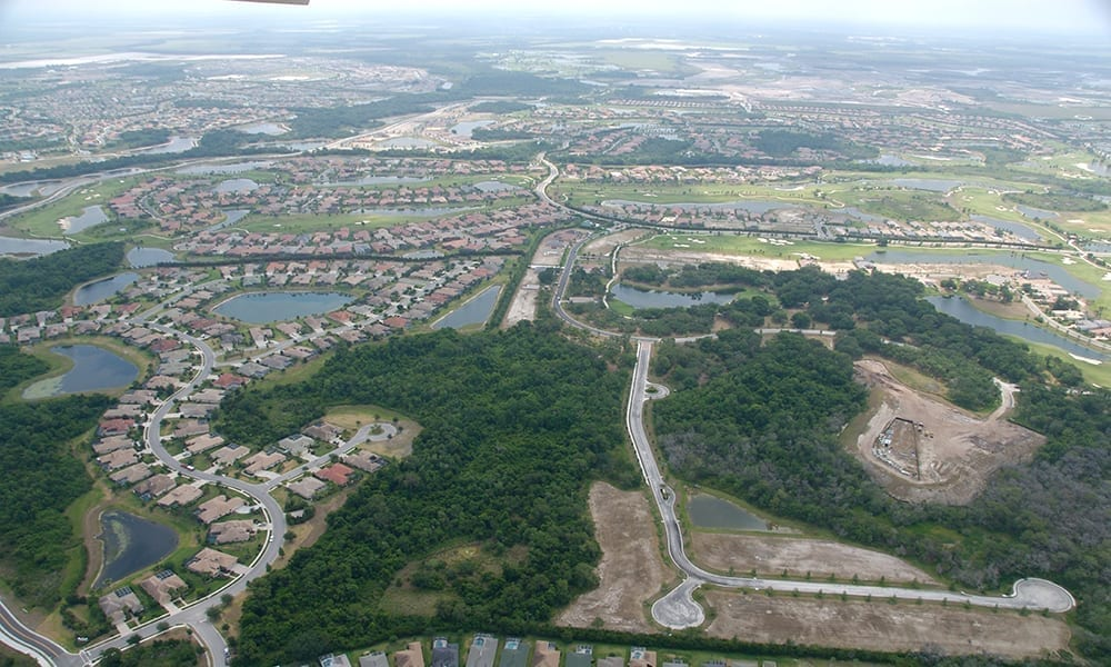 Aerial of planned communities Manatee County