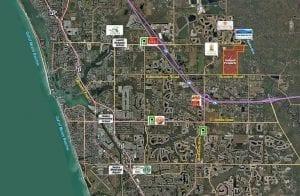 Venice Florida Aerial Map Land Development John A. Neal