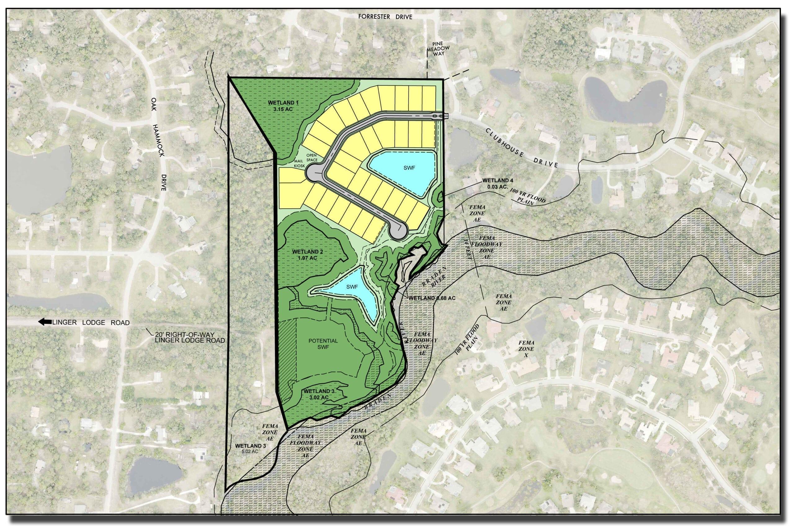 John A. Neal development site map