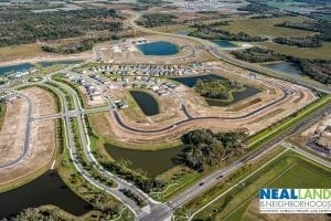 Aerial of new home community Parrish Florida
