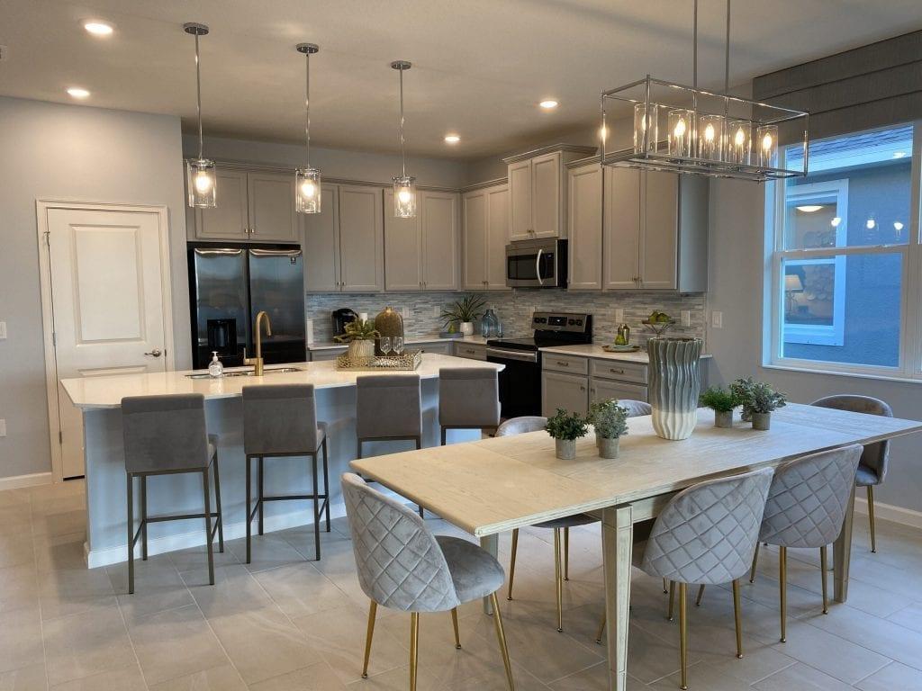 White kitchen new home model north river ranch