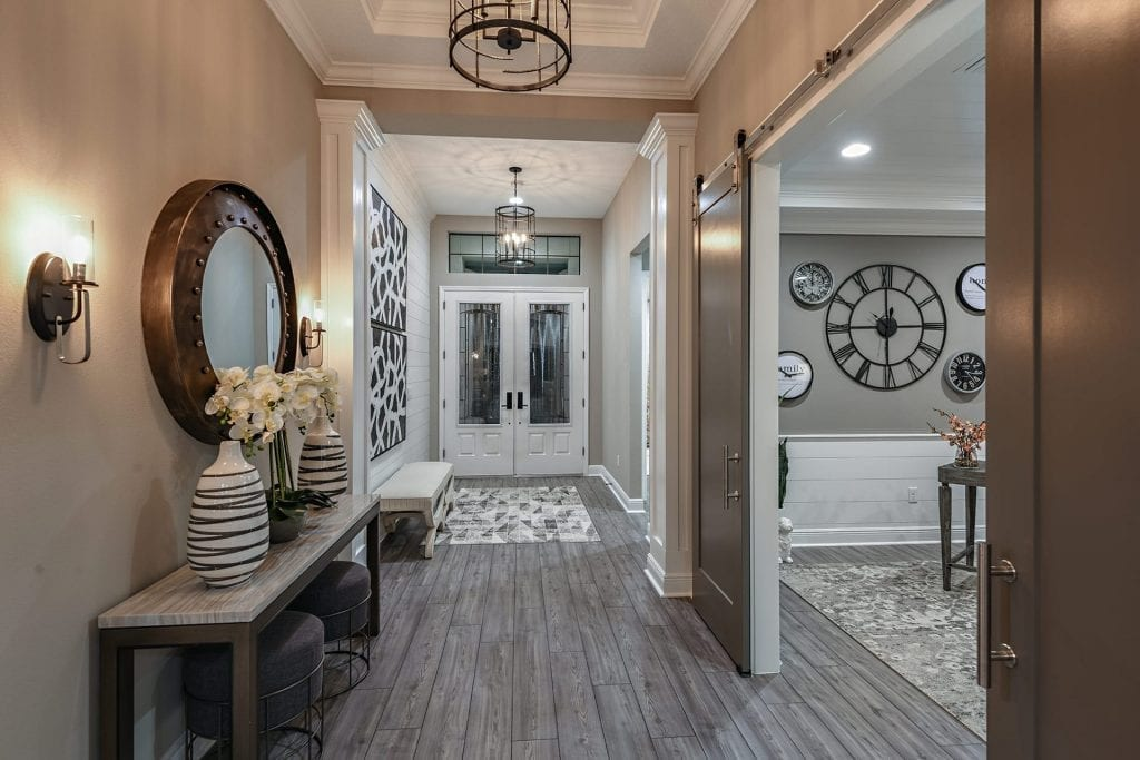 foyer and den new home model north river ranch