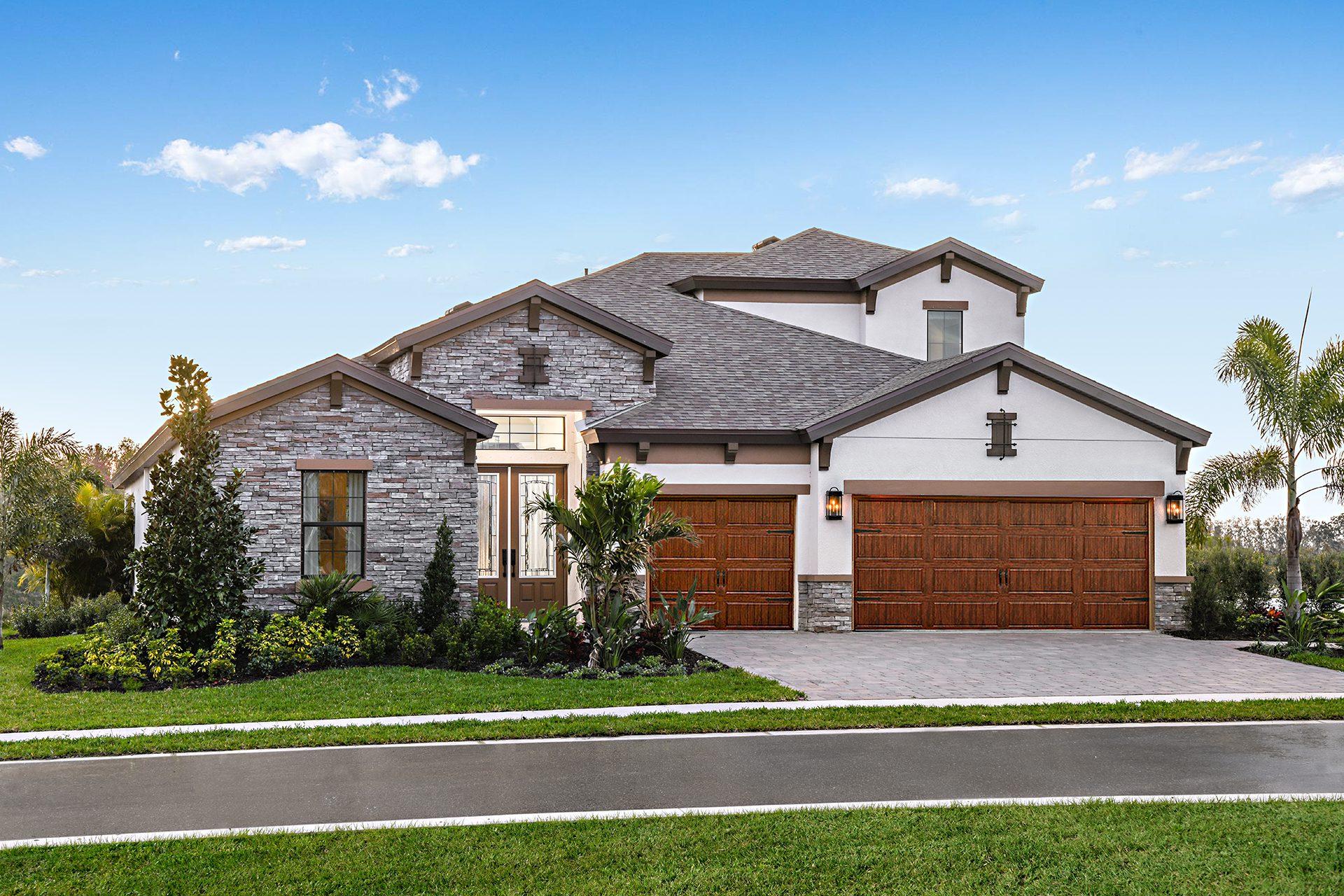 Homes by WestBay Bayshore model at North River Ranch