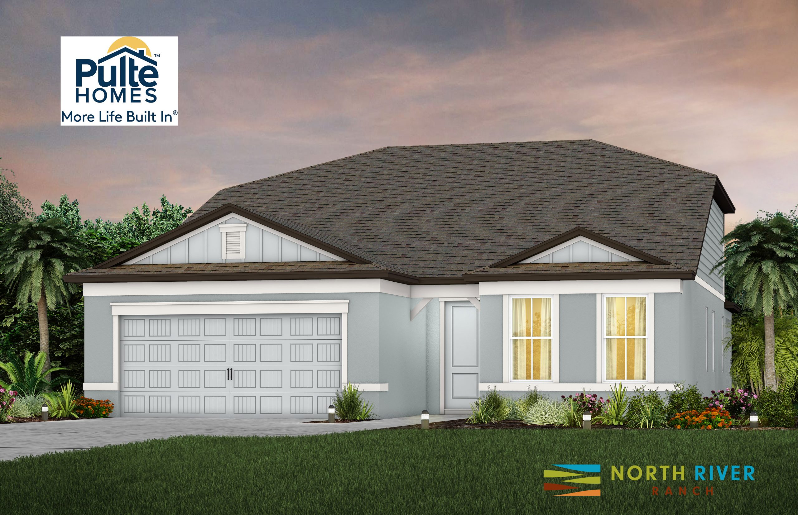 Pulte Homes North River Ranch Home Elevation